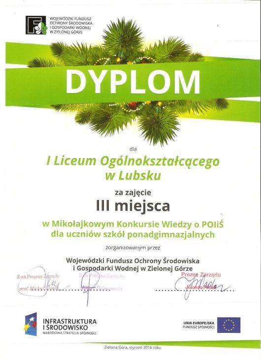 konkurs POLIS dyplom
